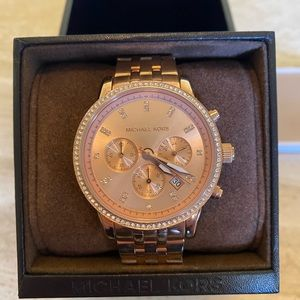 New Michael Kors Women's Rose Gold Tone Watch